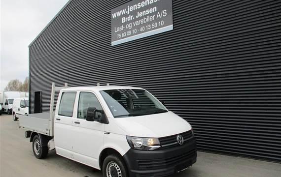 VW Transporter 2,0 2.0 TDI BMT 102 DOBBELTKABINE UDEN BAGSÆDE MED DK GRUNDLAD