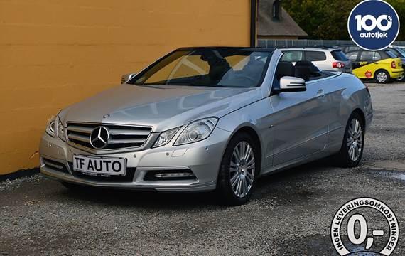 Mercedes E200 1,8 CGi Cabriolet aut. BE