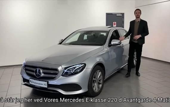 Mercedes E220 d 2,0 Avantgarde aut. 4Matic