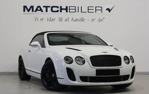 Bentley Continental Supersports 6,0 Convertible aut.