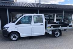 VW Transporter 2,0 TDi 102 Mandskabsvogn m/lad