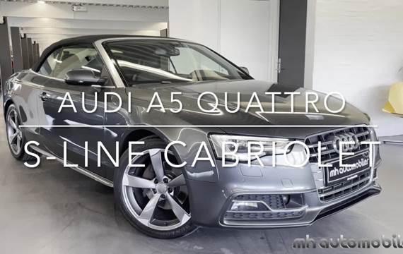 Audi A5 3,0 TDi 245 S-line Cabriolet quattro S-tr.