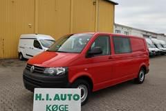 VW Transporter 2,0 TDi 140 Kasse-/Mandskabsvogn