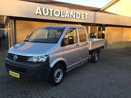 VW Transporter 2,0 TDi 140 Mandskabsvogn m/lad