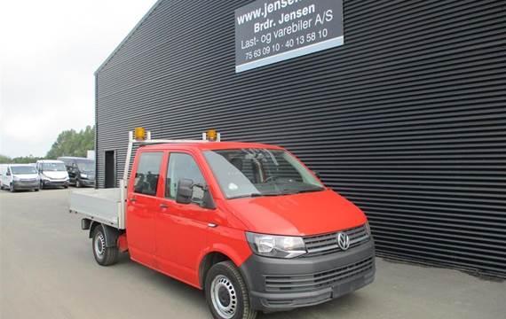 VW Transporter DOBBELTKABINE 2.0 TDI MED BAGSÆDE MED DK GRUNDLAD 2,0
