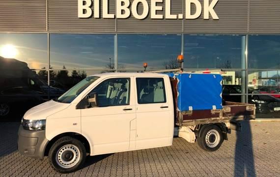 VW Transporter TDi 114 Mandskabsvogn m/lad 2,0