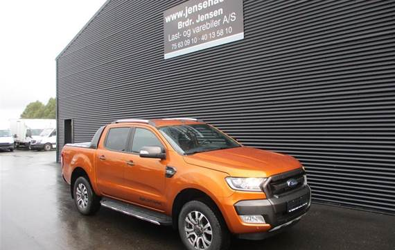 """Ford Ranger 3,2 3200kg  TDCi Wildtrak """"MANDSKABSBIL"""" 4x4  DobKab"""