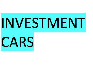 Investment Cars